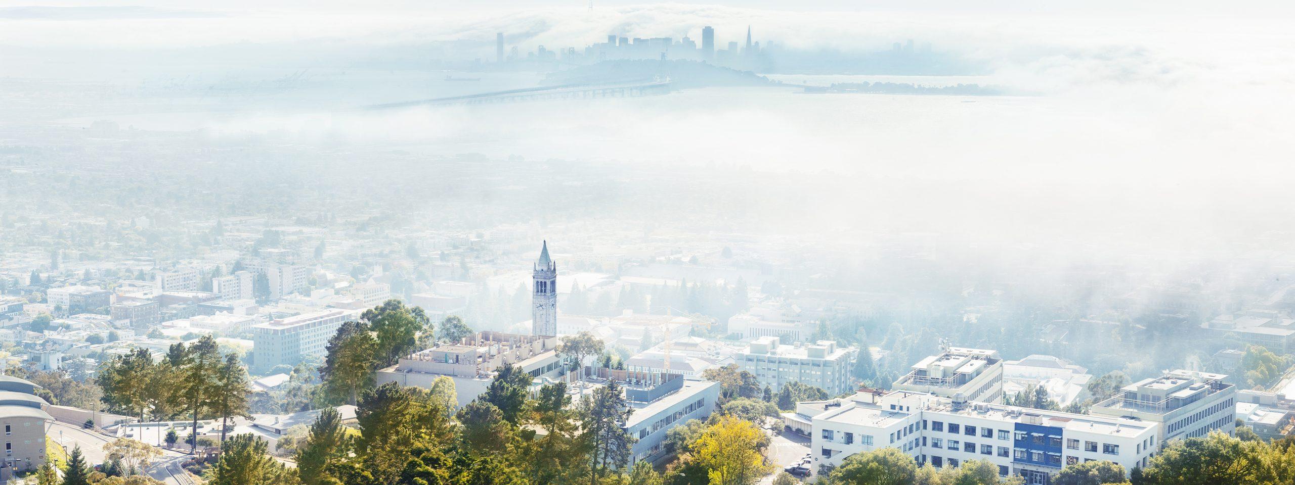 Arial photo of UC Berkeley campus