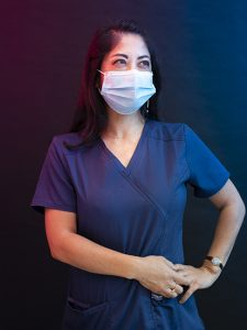 Marlena Chu with surgical mask